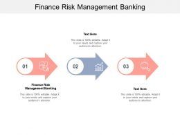Finance Risk Management Banking Ppt Powerpoint Presentation Show Deck Cpb