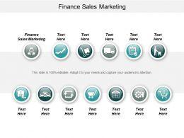 Finance Sales Marketing Ppt Powerpoint Presentation Gallery Smartart Cpb