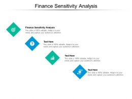 Finance Sensitivity Analysis Ppt Powerpoint Presentation Gallery Graphics Download Cpb