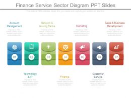Finance Service Sector Diagram Ppt Slides