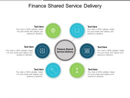 Finance Shared Service Delivery Ppt Powerpoint Presentation Infographic Template Example Introduction Cpb