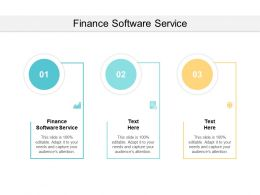 Finance Software Service Ppt Powerpoint Presentation Infographics Clipart Cpb