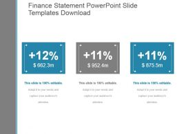 Finance Statement Powerpoint Slide Templates Download