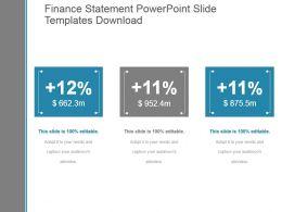 Finance Statement Powerpoint Slide Templates Download