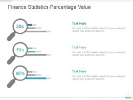 Finance Statistics Percentage Value Powerpoint Slide Layout