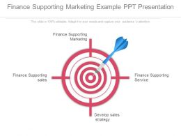 Finance Supporting Marketing Example Ppt Presentation
