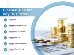 Finance Tips For Any Business