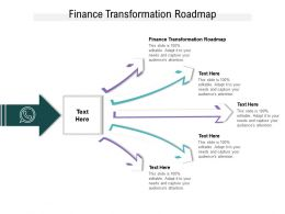 Finance Transformation Roadmap Ppt Powerpoint Presentation Icon Rules Cpb