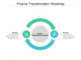 Finance Transformation Roadmap Ppt Powerpoint Presentation Infographic Template Slideshow Cpb