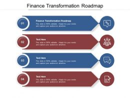 Finance Transformation Roadmap Ppt Powerpoint Presentation Inspiration Layout Ideas Cpb