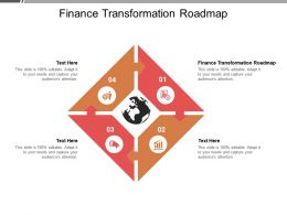 Finance Transformation Roadmap Ppt Powerpoint Presentation Show Cpb