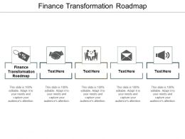 Finance Transformation Roadmap Ppt Powerpoint Presentation Slides Topics Cpb