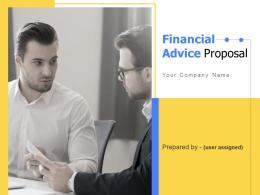 Financial Advice Proposal Powerpoint Presentation Slides
