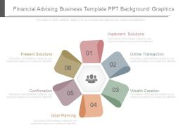 Financial Advising Business Template Ppt Background Graphics