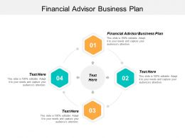 Financial Advisor Business Plan Ppt Powerpoint Presentation Icon Layouts Cpb
