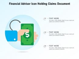 Financial Advisor Icon Holding Claims Document