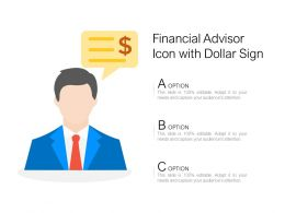 Financial Advisor Icon With Dollar Sign