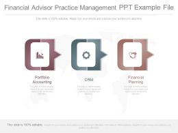 Financial Advisor Practice Management Ppt Example File