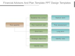 Financial Advisors And Plan Template Ppt Design Templates