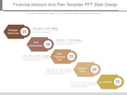Financial Advisors And Plan Template Ppt Slide Design