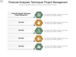 Financial Analysais Techniques Project Management Ppt Powerpoint Presentation Styles Cpb