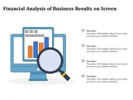 Financial Analysis Of Business Results On Screen