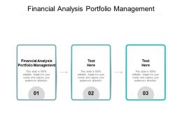 Financial Analysis Portfolio Management Ppt Powerpoint Presentation Ideas Elements Cpb