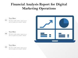 Financial Analysis Report For Digital Marketing Operations