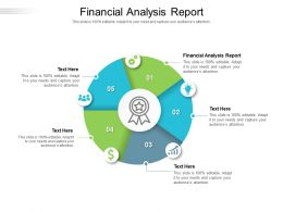 Financial Analysis Report Ppt Powerpoint Presentation Ideas Format Ideas Cpb