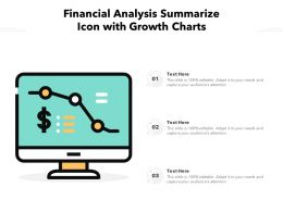 Financial Analysis Summarize Icon With Growth Charts
