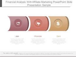 Financial Analysis With Affiliate Marketing Powerpoint Slide Presentation Sample