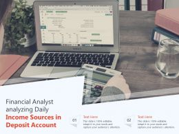 Financial Analyst Analyzing Daily Income Sources In Deposit Account