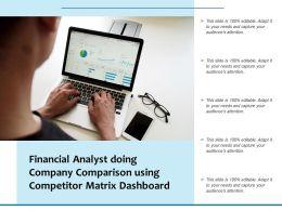 Financial Analyst Doing Company Comparison Using Competitor Matrix Dashboard