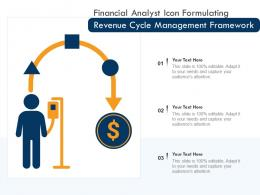 Financial Analyst Icon Formulating Revenue Cycle Management Framework