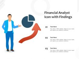 Financial Analyst Icon With Findings