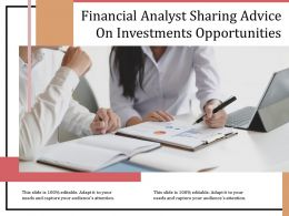 Financial Analyst Sharing Advice On Investments Opportunities