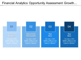 Financial Analytics Opportunity Assessment Growth Brand Vision Strategy