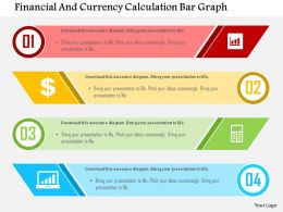Financial And Currency Calculation Bar Graph Flat Powerpoint Design