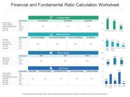 Financial And Fundamental Ratio Calculation Worksheet