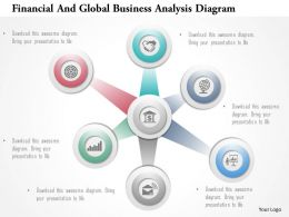 Financial And Global Business Analysis Diagram Powerpoint Templates