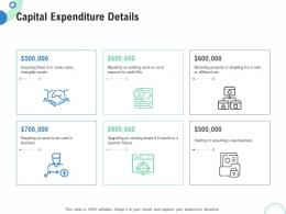 Financial And Operational Analysis Capital Expenditure Details Ppt Powerpoint Template