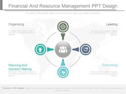 Financial And Resource Management Ppt Design