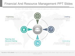 Financial And Resource Management Ppt Slides