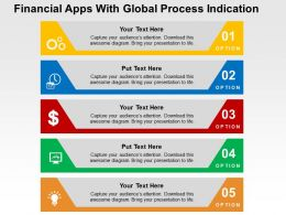 Financial Apps With Global Process Indication Flat Powerpoint Design