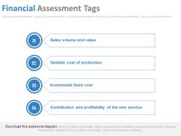 Financial Assessment Tags Ppt Slides