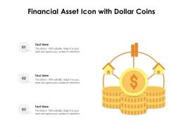Financial Asset Icon With Dollar Coins