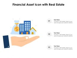 Financial Asset Icon With Real Estate