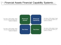 Financial Assets Financial Capability Systemic Knowledge Management Service Brand