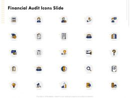 Financial Audit Icons Slide Ppt Powerpoint Presentation Introduction