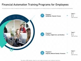 Financial Automation Training Programs For Employees Standardize Expand Ppt Slides